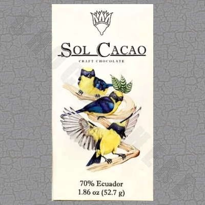 Ecuador Dark 70% Chocolate Bar - 1.86oz