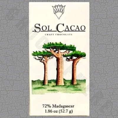 Madagascar Dark 72% Chocolate Bar - 1.86oz