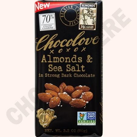 Strong Dark Almonds and Sea Salt Bar 3.2oz