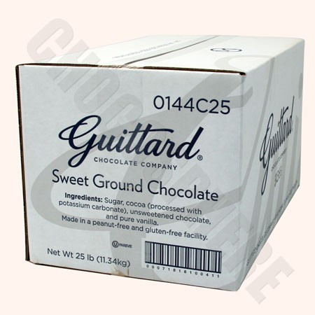 Sweetened Ground Chocolate, 25 lb box