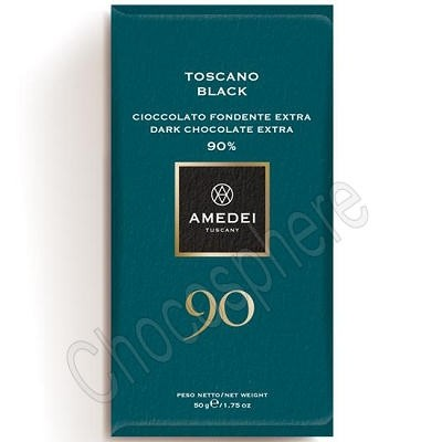 Toscano Black 90% Dark Chocolate Bar 50g