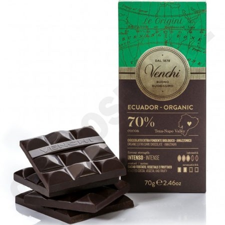 Venchi Ecuador 70% Cacao Single Origin Bio Chocolate Bar