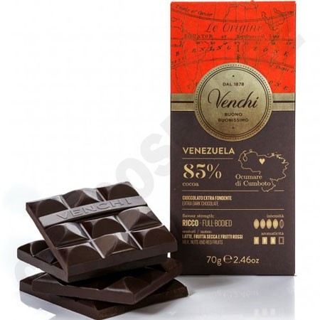 Venchi Venezuela 85% Cacao Single Origin Chocolate Bar