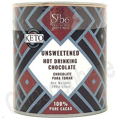 """Unsweetened """"Keto"""" Hot Drinking Chocolate Canister - 200g"""