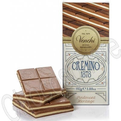 Cremino 1878 Tablet 110g - Layered milk, white, gianduja