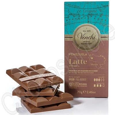 Single Origin Venezuela Milk Chocolate Bar - 70g