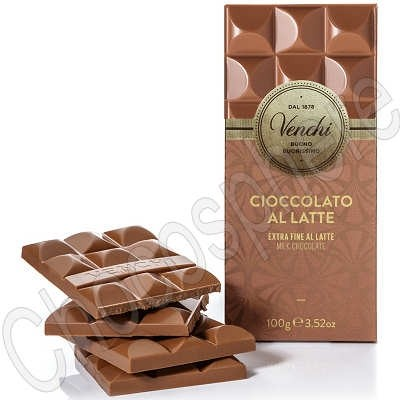Cioccolatte al Latte Fine Venchi milk chocolate bar - 100g