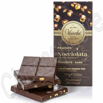 Semisweet Whole IGP Piedmont Hazelnut Bar - 100g