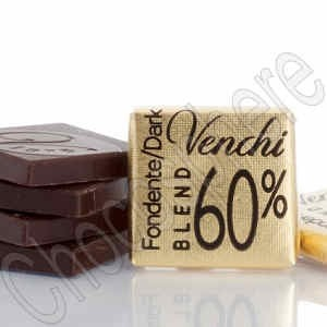60% Cacao Mini Dark Chocolate Tasting Square