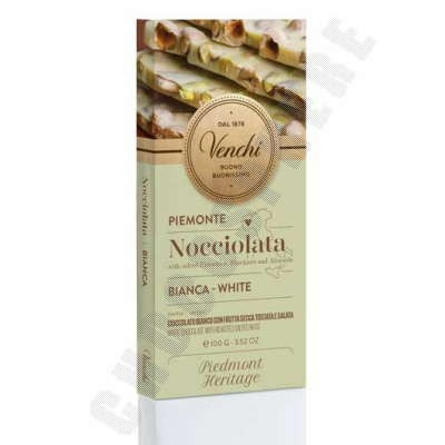 White with Pistachos, Almonds & Hazelnuts Salted Bar - 100g