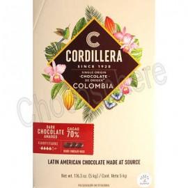 Cordillera 70% Dark Chocolate Discs 5KG