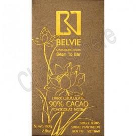 Belvie Dark 90% Cacao Chocolate Bar - 80g