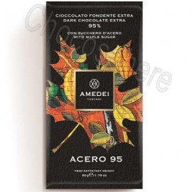 Amedei Acero 95 Extra Dark Chocolate Bar with Maple Sugar