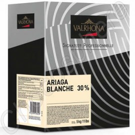 Valrhona Ariaga Blanche 30% White Chocolate 5Kg