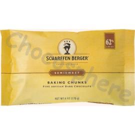 Scharffen Berger Semisweet Baking Chunks Pouch 170g