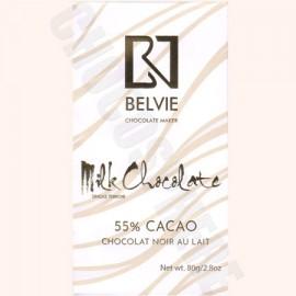 Belvie Au Lait 55% Milk Chocolate Bar - 80g