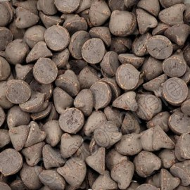 Guittard Organic Chocolate Chips, 25 lb box, temporary, bloomed