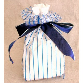 Chocosphere Blue-Stripe Gift Bag