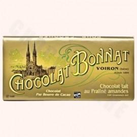 Bonnat Milk Chocolate Almond Praline Bar 100g