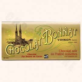Bonnat Dark Chocolate Hazelnut Praline Bar 100g