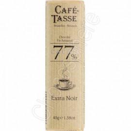 Cafe-Tasse Cafe-Tasse 77% 45g Bar Extra Dark Chocolate