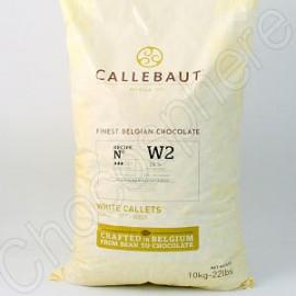 Callebaut Callebaut W2-NV White Chocolate Callets '3-Drop'