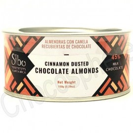 Sibo Cinnamon-Dusted Chocolate Covered Almonds Canister – 150g
