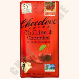 Chocolove Chilies and Cherries Bar 3.2oz