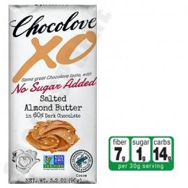 Chocolove Salted Almond Butter in Dark Chocolate No-Sugar-Added Bar 3.2oz