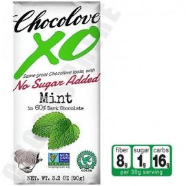 Chocolove Mint in Dark Chocolate No-Sugar-Added Bar 3.2oz