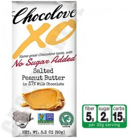Chocolove Salted Peanut Butter in Milk Chocolate No-Sugar-Added Bar 3.2oz