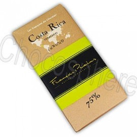 Pralus Costa Rica Dark Chocolate Bar, 75% Cacao