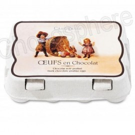 Cafe-Tasse 'Carton' of 12 Dark Chocolate/Praline Eggs