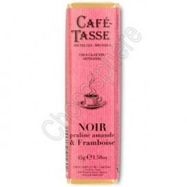 Cafe-Tasse Noir Praline Amande & Framboise 45g Bar