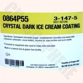 Guittard Crystal Dark Ice Cream Coating 55 lb Pail