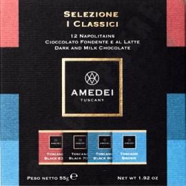 Amedei Selezione Classici 12 Piece Sampler Box 55g (closed)