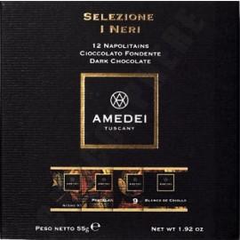 Amedei Selezione I Neri 12 Piece Sampler Box 55g (closed)