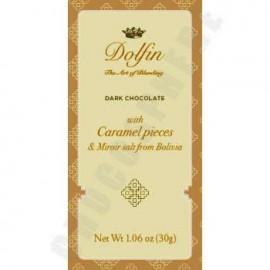 Dolfin Dark Chocolate with Caramel Nibs & Bolivian Mirror Salt Mini Bar 30g