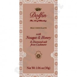 Dolfin Milk Chocolate with Nougat, Honey & Kashmir Diamond Salt Mini Bar 30g
