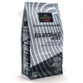 Valrhona Equatoriale Noire 55% Dark Chocolate 'Les Feves' Discs 3Kg