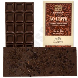 Gallette Burnt Caramel & Nibs 40% Milk Chocolate Bar - 100g