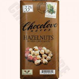 Chocolove Hazelnuts Bar 3.2oz