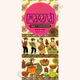 Marana Cusco Dark Chocolate Bar - 100% Cacao - 70g
