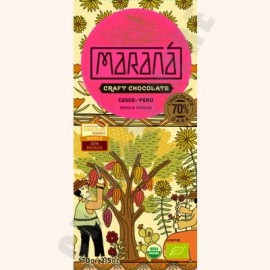 Marana Cusco Dark Chocolate Bar - 70% Cacao - 70g
