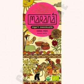 Marana Cusco Dark Chocolate Bar - 80% Cacao - 70g