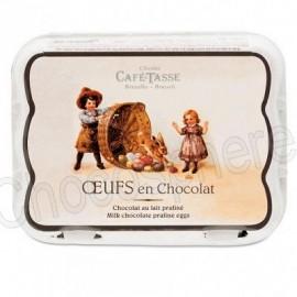 Cafe-Tasse 'Carton' of 12 Milk Chocolate/Praline Eggs