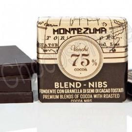 Venchi Grandblend Montezuma Dark 75% w/Nibs Napolitain Tasting Squares