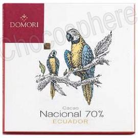 Domori Nacional Ecuador Dark Chocolate 70% Bar
