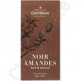 Cafe-Tasse Cafe-Tasse Noir Amandes Tablet 85g