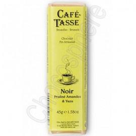 Cafe-Tasse Dark Almond Praline with Yuzu Bar 45g